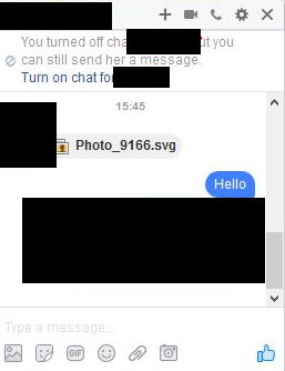Malicious Facebook SVG Message