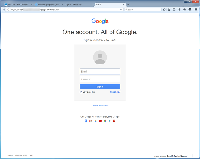 Google Credentials Phish